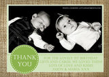 Vintage Rustic Hessian Personalised Birthday Thank You Cards Printed Kids Child Boys Girls Adult ~ QUANTITY DISCOUNT AVAILABLE