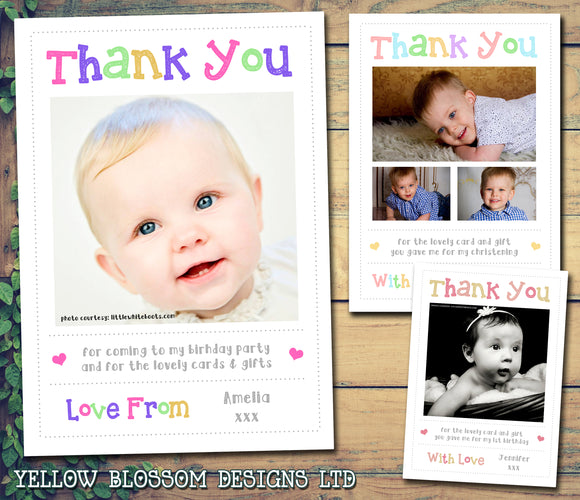 Cute Thank You Cards With Photos