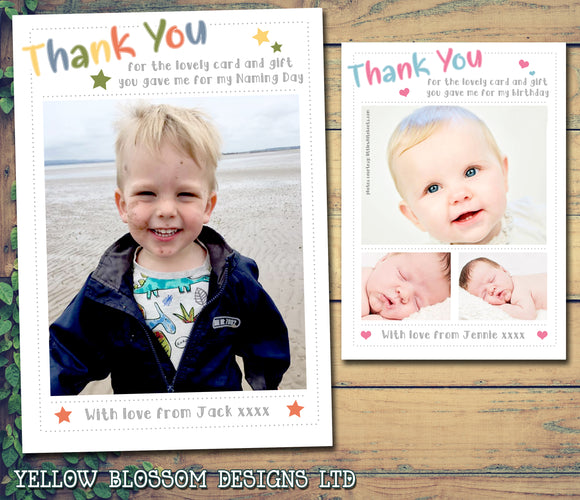 Modern Thank You Cards With Photos