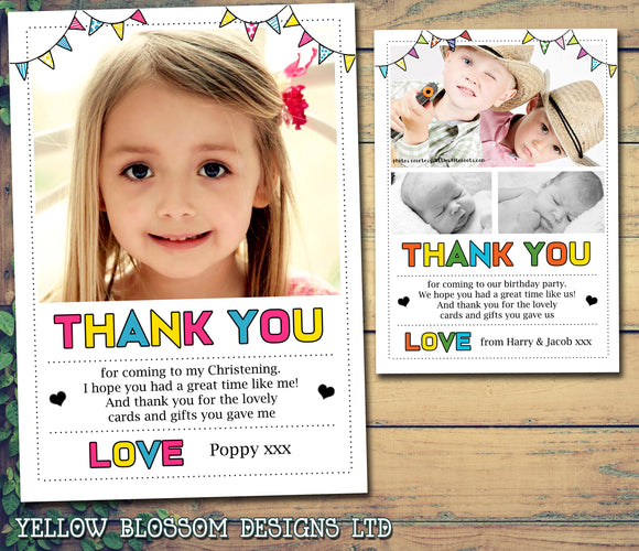 Retro Thank You Cards With Photos