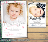 Star Bunting Thank You Cards With Photo