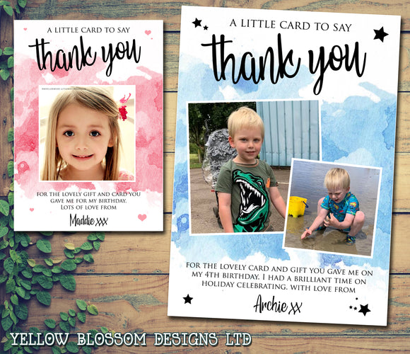Thank You Cards Birthday Christening Photo Personalised Teacher New Baby Cute