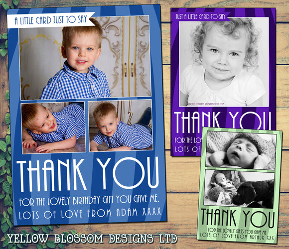Thank You Cards Birthday Christening Personalised Bespoke Printed Photo Cards 5 10 20 30 40 50 60 70 80 90 100 Flat Postcards Or Folded Cards High Quality Just A Little Card Simple Effective