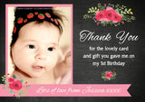 Elegant Shabby Chic Vintage Photo Personalised Birthday Thank You Cards Printed Kids Child Boys Girls Adult ~ QUANTITY DISCOUNT AVAILABLE