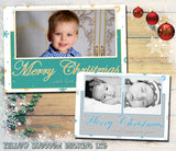 Landscape Photo Card Personalised Folded Flat Christmas Photo Cards Family Child Kids ~ QUANTITY DISCOUNT AVAILABLE