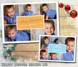 Multiple Photo Personalised Folded Flat Christmas Photo Cards Family Child Kids ~ QUANTITY DISCOUNT AVAILABLE