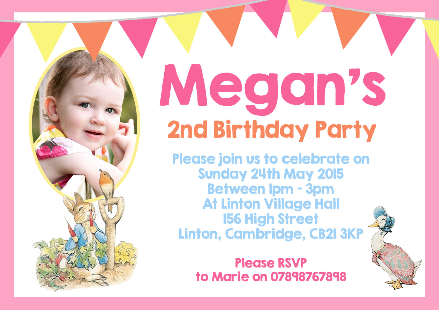 Jemima Puddle Duck Peter Rabbit Party Invitations