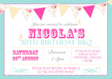 Children's Adult Hen Party Invitations - Boys Girls Joint Birthday Party Invites Twins Unisex Printed ~ QUANTITY DISCOUNT AVAILABLE - YellowBlossomDesignsLtd