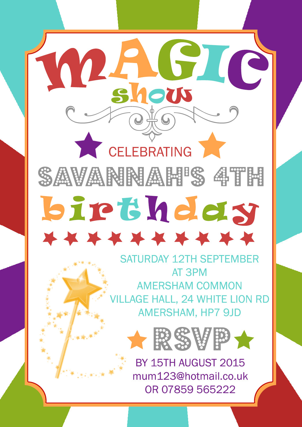 Magic Show Party Invitations - Birthday Invites Boy Girl Joint Party ...