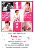 Multiple Photo Party Invitations - Birthday Invites Boy Girl Joint Party Twins Unisex Printed Children's Kids Child ~ QUANTITY DISCOUNT AVAILABLE