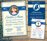 Be Our Guest Party Invitations - Boy Girl Joint Party Invites Twins Unisex Printed Children's Kids Child ~QUANTITY DISCOUNT AVAILABLE