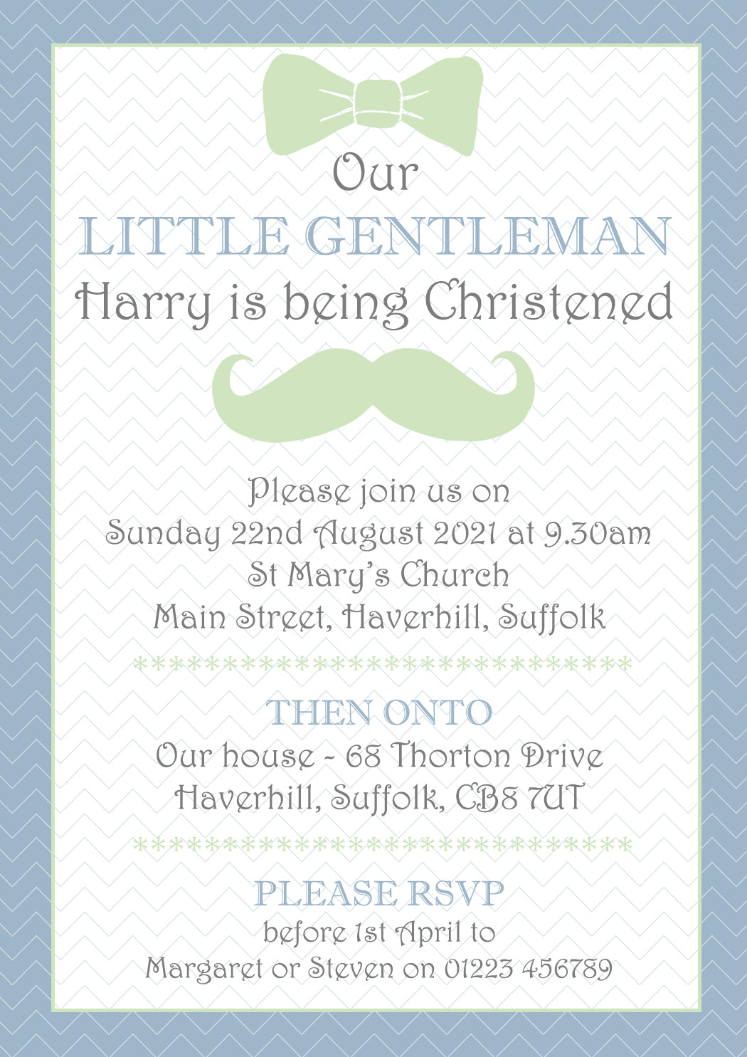 Our Little Lady Gentleman - Christening Invitations Joint Boy Girl ...