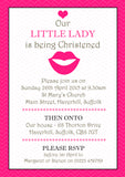 Our Little Lady Gentleman - Christening Invitations Joint Boy Girl Unisex Twins Baptism Naming Day Ceremony Celebration Party ~ QUANTITY DISCOUNT AVAILABLE