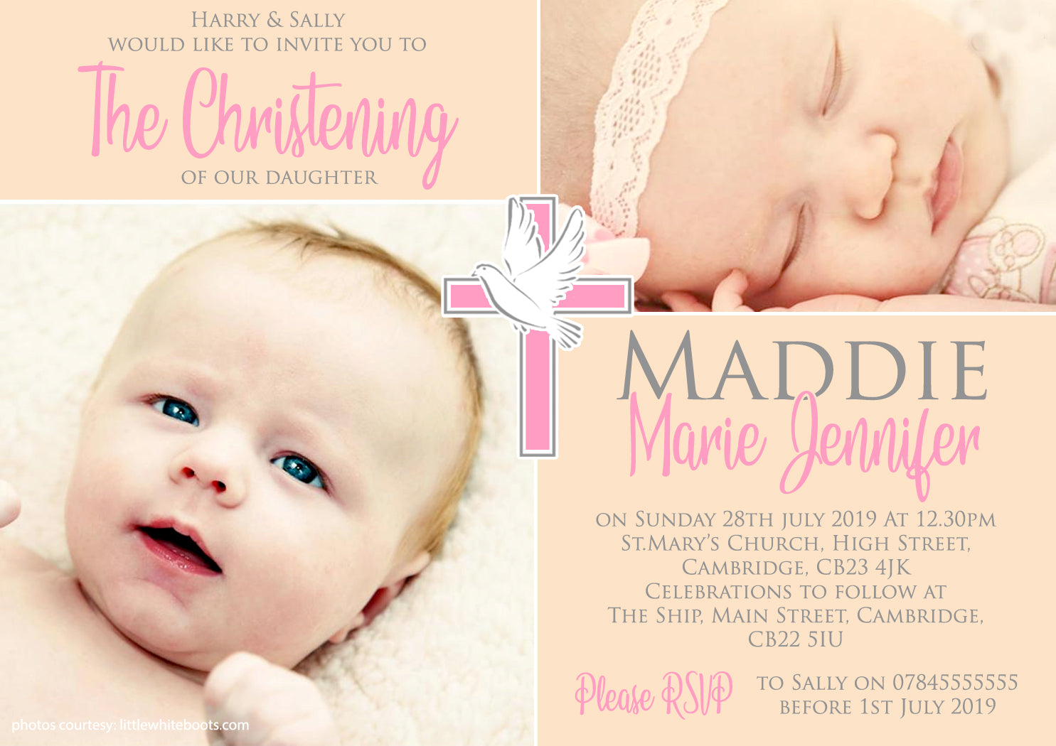 Personalised 1st ONE Birthday Invitations ~ Glitter Effect ~ Printed ...