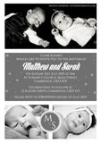 Modern Christening Baptism Ceremony Naming Day Invites
