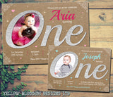 Gorgeous Invitations Premium Photo Cards ONE First Birthday 1st Boy Girl