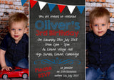 Premium Personalised Birthday Invitations Photo Invites Cards Boy Girl Bunting