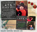 Boy Girl Personalised Folded Flat Christmas Thank You Photo Cards Family Child Kids ~ QUANTITY DISCOUNT AVAILABLE