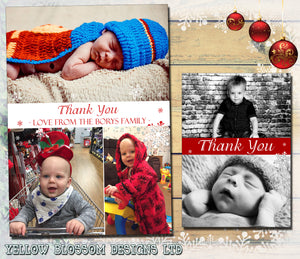 Personalised Folded Flat Christmas Thank You Photo Cards Family Child Kids ~ QUANTITY DISCOUNT AVAILABLE