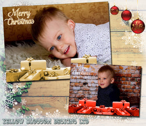 Personalised Pack of Photo Christmas Cards Envelopes Postcards Folded