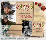 Personalised Thank You Cards Notes With Photo ~ Shabby Chic ~ Multiple Pack Selection