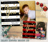Thank You Cards With Photo Christmas Xmas