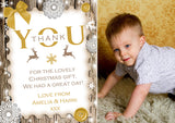 Rustic Thank You Cards With Photo Christmas Xmas