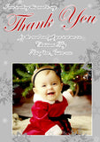 Portrait Snowflakes Boy Girl Personalised Folded Flat Christmas Thank You Photo Cards Family Child Kids ~ QUANTITY DISCOUNT AVAILABLE