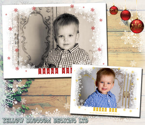 Beautiful Personalised Folded Flat Christmas Thank You Photo Cards Family Child Kids ~ QUANTITY DISCOUNT AVAILABLE