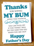 Father's Day Greetings Card ~ Funny Cheeky Rude ~ Dad Daddy