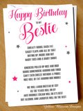 Happy Birthday To my Bestie ~ Funny Poem