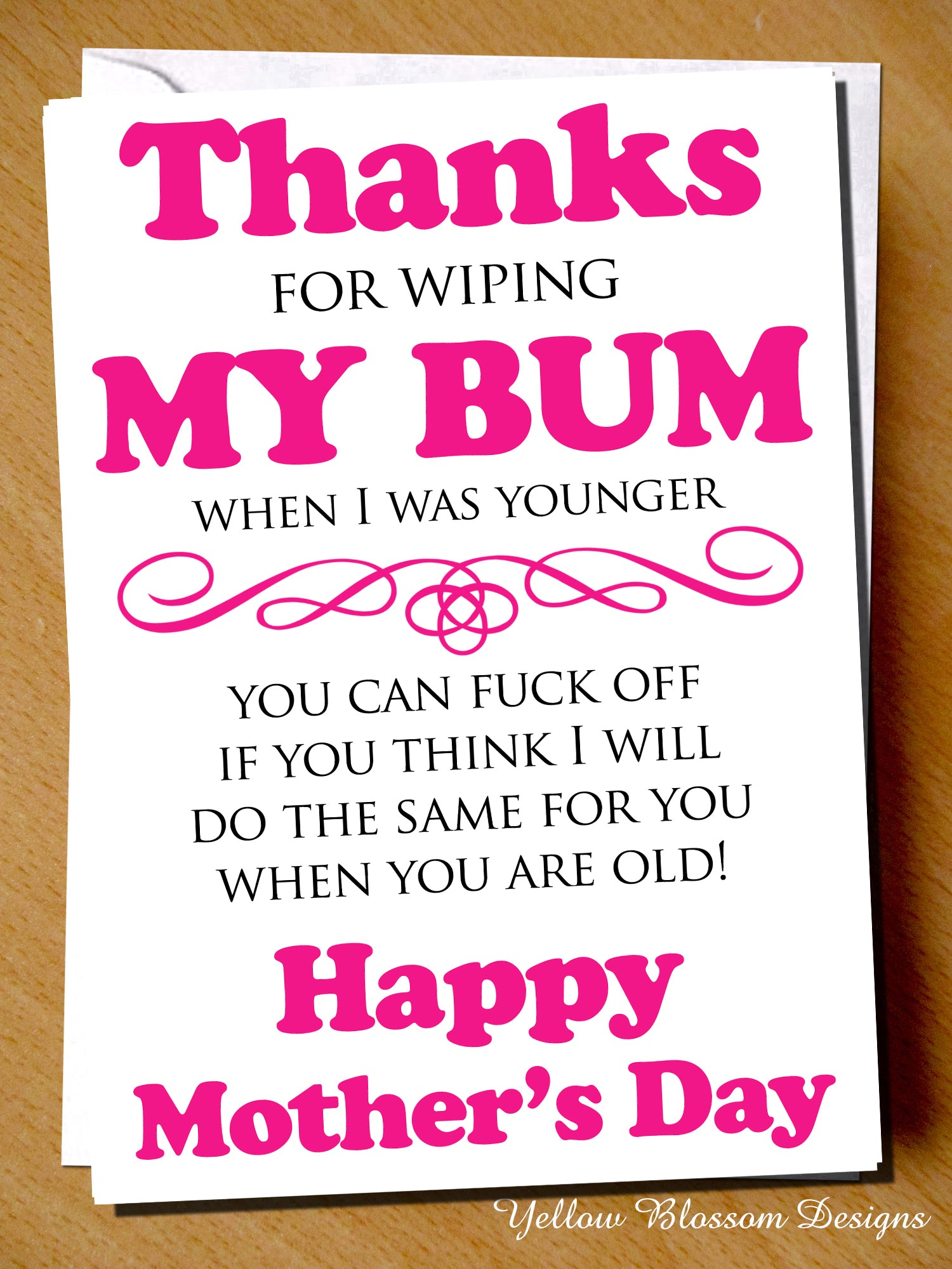 Mothers Day Greetings Card Funny Cheeky Rude Mum Mummy
