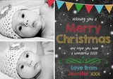 Bundle Of Kids Personalised Christmas Greeting Card Pack