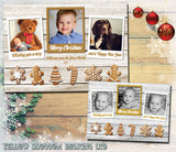 Bundle Of Personalised Christmas Greeting Card Pack Blank Inside