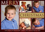 Personalised Multiple Photo Christmas Greeting Card