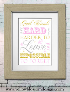 Good Friends ~ Personalised Bespoke Framed / Unframed Print