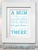 Printed Mum Artwork ~ Unique Memories Turned Into Beautiful Typography