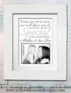 Special ~ Mother & Son ~ Love ~ Perfect Mother's Day Gift Idea