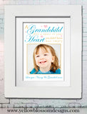 A Grandchild Steals A Heart Personalised Photo Print - YellowBlossomDesignsLtd