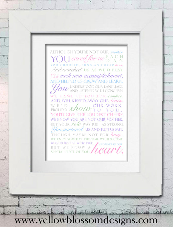 Just Like A Mum ~ Love You Print