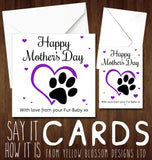 Happy Mother's Day With Love From Your Fur-Baby xx