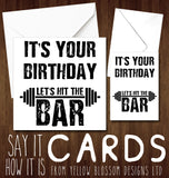 Funny Birthday Card Gym Weight Lift Fitness Exercise Workout Bodybuilding