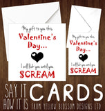 Naughty Rude Funny Valentines Card Her Wife Partner Girlfriend Gift Cheeky Joke