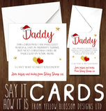 Baby Bump Daddy Christmas Card