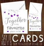 Valentines Day Card Love You Together Couple Cute Birthday Anniversary Christmas