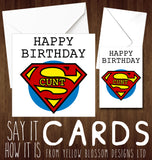 Happy Birthday Greetings Card Superhero Man Dad Brother Friend  Rude