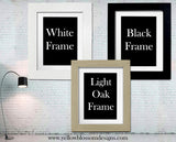 Godmother Godfather Typography Framed Printed ~ Personalised
