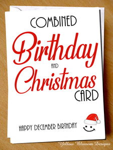 Funny Birthday Christmas Card December Joke Friend Sister Mum Brother Partner