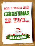All I Want For Christmas Is You And A Blowjob Card