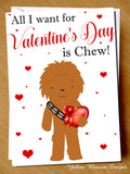 All I Want For Valentine's Day Is Chew ~ Greeting Card Cute Love Couple - YellowBlossomDesignsLtd